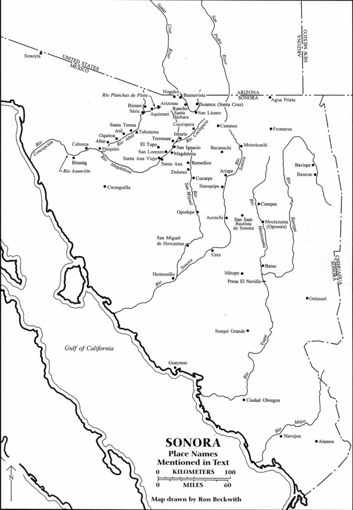 Sonora Arizona Map.Maps Southwestern Mission Research Center